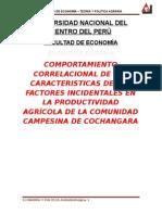 Trabajo de Agraria - Cochangara