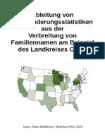Ableitung von Auswanderungsstatistiken aus der Verbreitung von Familennamen