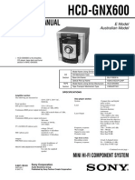 HCD-GNX600 Sistema Audio Manual