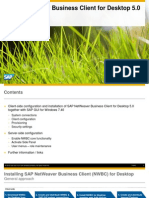 SAP NetWeaver Business Client for Desktop 5.0 Setup