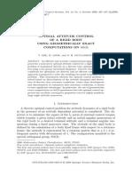 Optimal Attitude Control of a Rigid Body Using Geometrically Exact Computations on So(3)