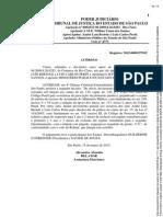 Acórdão - Condenação André Luiz Bertole - Sequestro