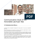 Communication Style of the Honorable Lee Kuan Yew