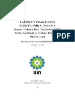 Laporan Praktikum Elektronika Dasar I