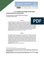 Brighenti - A Epistemologia e TdL de Clodovis Boff