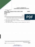 [Spmsoalan]Soalan SPM 2014 MM K1