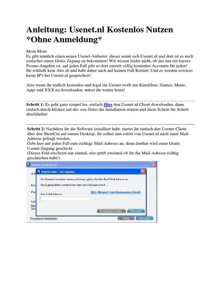 Anleitung Usenet Kostenlos Nutzen Ohne Anmeldung Inkl Software