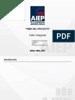 PPT Taller Integrado. Planificacion
