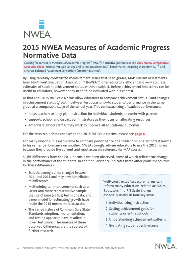 Map 2015 Norms.2015 Map Normative Data Aug15 Standard Deviation Educational