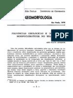 Ab_Saber, Aziz Nacib. Províncias Geológicas e Domínios Morfoclimáticos Do Brasil-1970G