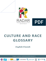 RADAR Glossary Culture and Race