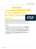 Wind and Solar Reducing Consumer Bills - An Investigation Into the Merit Order Effect
