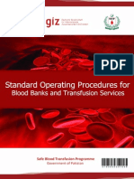 Standard Operating Procedures for Blood Bank Processes in Pakistan