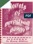 Secrets Of Perpetual Power - Hendershot Mystery by Barry Hilton