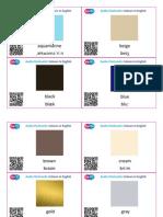 SupEfl Audio Flashcards Colours in English QR + word+ transcription SET 1