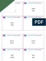 SupEfl Audio Flashcards Coloursin English_WORD + Transcription set 3