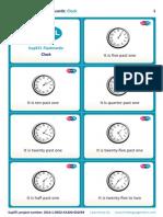SupEFL Flashcards Clock English