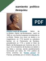 El Pensamiento Político de Montesquieu