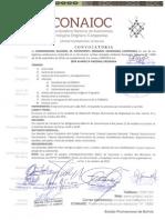 Convocatoria 3ra Asamblea CONAIOC
