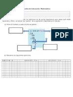 Prueba de Educación  Matemática Divisiones