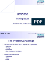 UCP 600 - Training Issues
