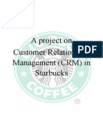 A Project on CRM in starbucks