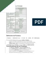 Esquema de Fonética y Fonología