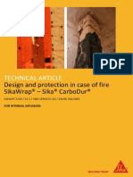 Design and Protection in Case of Fire (SikaWrap and Sika Carbodur)