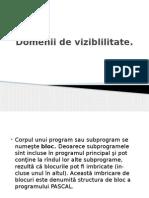 Informatica proiect domenii de vizibilitate