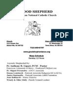 Good Shepherd ANCC Bulletin 10/18