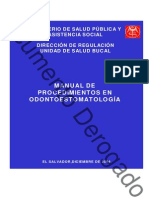 Manual de Procedimientos en Estomatologia (Salud Bucal)