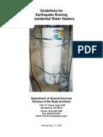 Seismic Water Heater Bracing