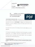 Jaime Granados informa la no asistencia a la diligencia de interrogatorio de la Fiscalía