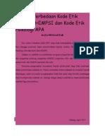 Analisis Perbedaan Kode Etik Psikologi HIMPSI Dan Kode Etik Psikologi APA