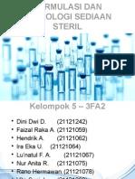 Teknologi farmasi sediaan steril