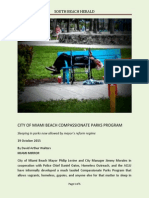City of Miami Beach Compassionate Parks Program