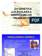 Baza Genetica Moleculara in Talasemii