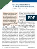Comparison of Distal Clavicle Fracture Reconstructive Technique