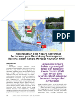 Meningkatkan Bela Negara Masyarakat Perbatasan guna Mendukung Pembangunan Nasional dalam Rangka Menjaga Keutuhan NKRI