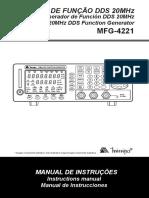 Gerador de Funções X7Q4J1S7 MFG 4221 1103 BR