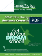GMAT Verbal Section Sentence Correction