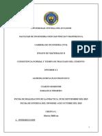 Informe Consistencia Normal y Tiempo de Fraguado Del Cemento