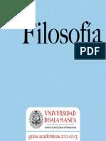 Grado en Filosofía 2012-2013