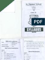 Syllabus III St. Thomas