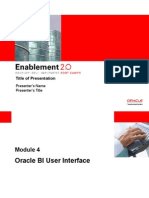 Oracle BI User Interface