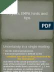 Physics EMPA Hints and Tips