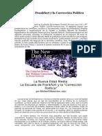 La Escuela de Frankfurt y La Corrección Política