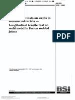 En 876-Longitudinal Tensile Test