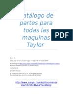 Catalogo de partes Maquinas Taylor