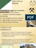 La Geomecanica en La Ingenieria Minera